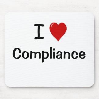 I Love Compliance I Heart Compliance Mouse Pad