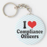 I Love Compliance Officers Key Chains