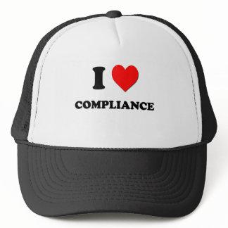 I love Compliance Trucker Hat