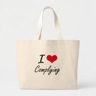 I love Complying Artistic Design Jumbo Tote Bag