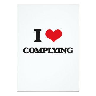 I love Complying 5x7 Paper Invitation Card