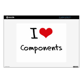 """I love Components Skin For 12"""" Laptop"""
