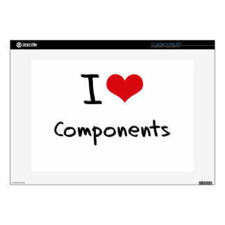 """I love Components 15"""" Laptop Decal"""