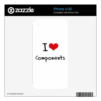 I love Components Skin For The iPhone 4S