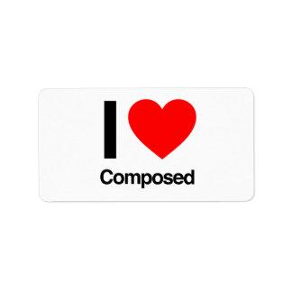 i love composed address label