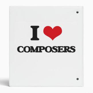 I love Composers Vinyl Binder