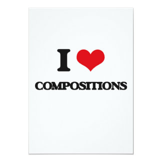 "I love Compositions 5"" X 7"" Invitation Card"