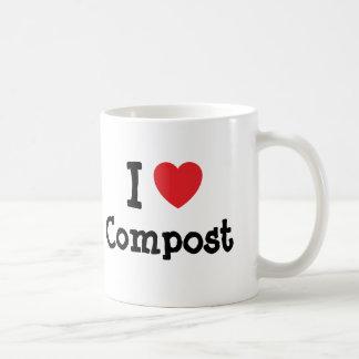 I love Compost heart custom personalized Classic White Coffee Mug