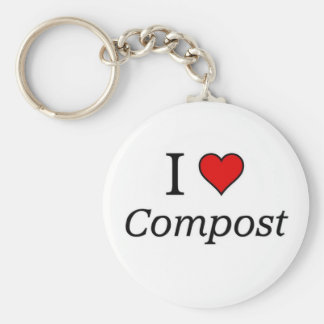 I love Compost Keychain