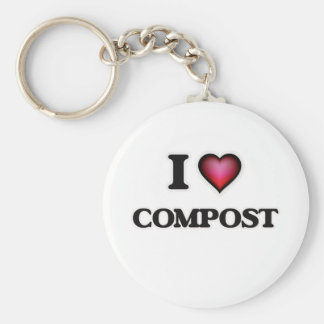 I love Compost Keychain