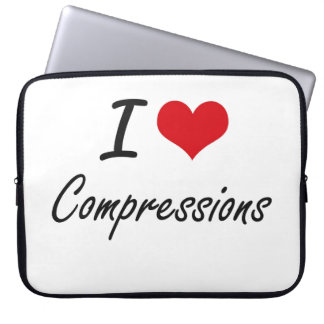 I love Compressions Artistic Design Computer Sleeves