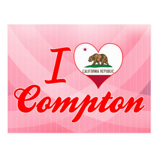 I Love Compton, California Postcard