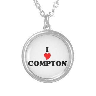 I love Compton Round Pendant Necklace