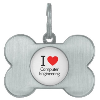 I Love Computer Engineering Pet Name Tags