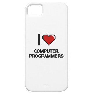 I love Computer Programmers iPhone 5 Cases