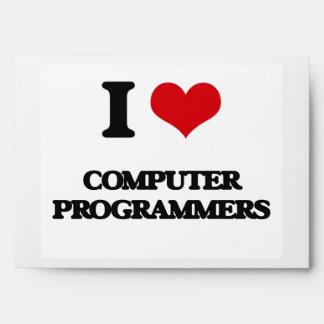 I love Computer Programmers Envelope