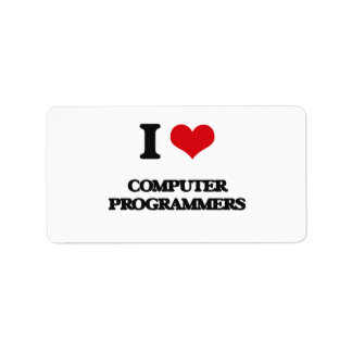 I love Computer Programmers Labels