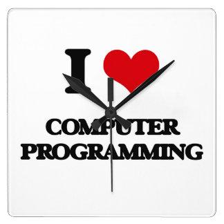 I Love Computer Programming Wallclock