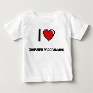 I Love Computer Programming Digital Retro Design Tee Shirts