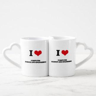 I Love Computer Science And Engineering Coffee Mug Set