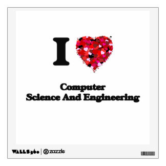 I Love Computer Science And Engineering Wall Sticker