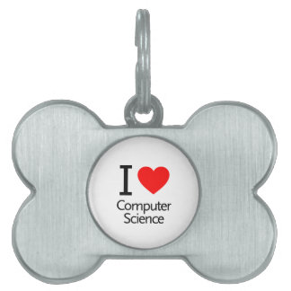 I Love Computer Science Pet ID Tag