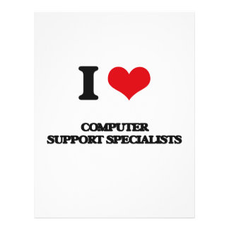 I love Computer Support Specialists Full Color Flyer