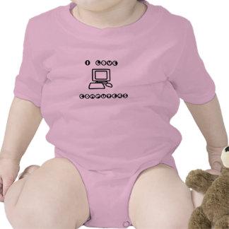 I Love Computers! Baby Bodysuit