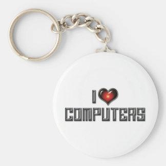 I Love Computers Keychain