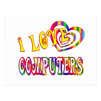 I Love Computers Postcard
