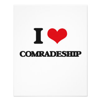 I love Comradeship Personalized Flyer
