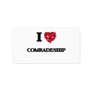 I love Comradeship Address Label