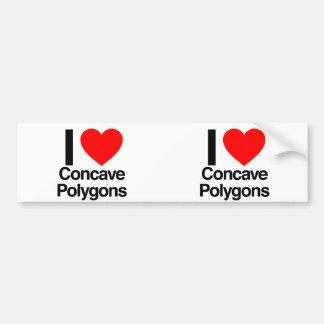 i love concave polygons car bumper sticker