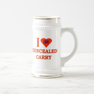 I LOVE CONCEALED CARRY BEER STEIN