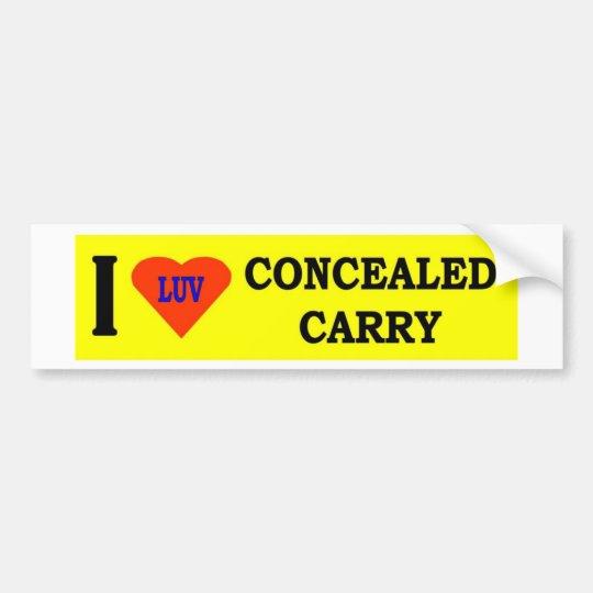 I LOVE CONCEALED CARRY BUMPER STICKER