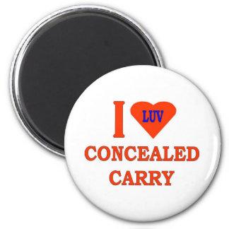 I LOVE CONCEALED CARRY MAGNET