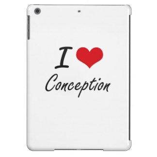 I love Conception Artistic Design Case For iPad Air