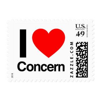 i love concern postage