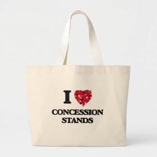 I love Concession Stands Jumbo Tote Bag