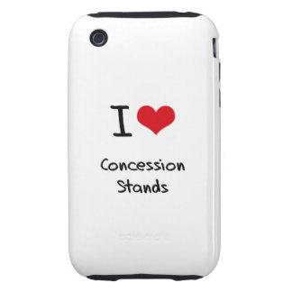I love Concession Stands Tough iPhone 3 Case