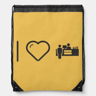 I Love Concession Stands Drawstring Backpacks