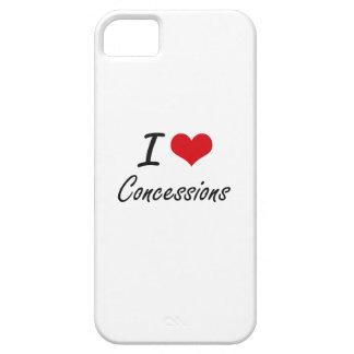 I love Concessions Artistic Design iPhone 5 Case