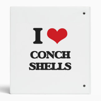I love Conch Shells 3 Ring Binder