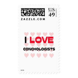 I LOVE CONCHOLOGISTS STAMPS