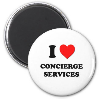 I love Concierge Services 2 Inch Round Magnet