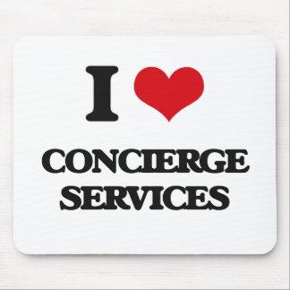I love Concierge Services Mouse Pad