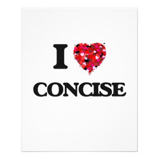 """I love Concise 4.5"""" X 5.6"""" Flyer"""