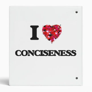 I love Conciseness Vinyl Binder