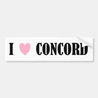 I LOVE CONCORD BUMPER STICKER