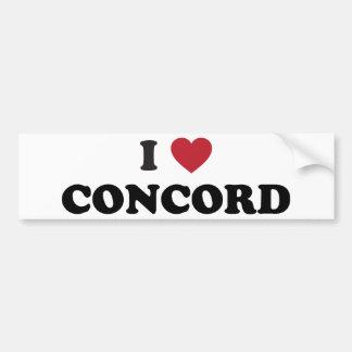 I Love Concord California Car Bumper Sticker
